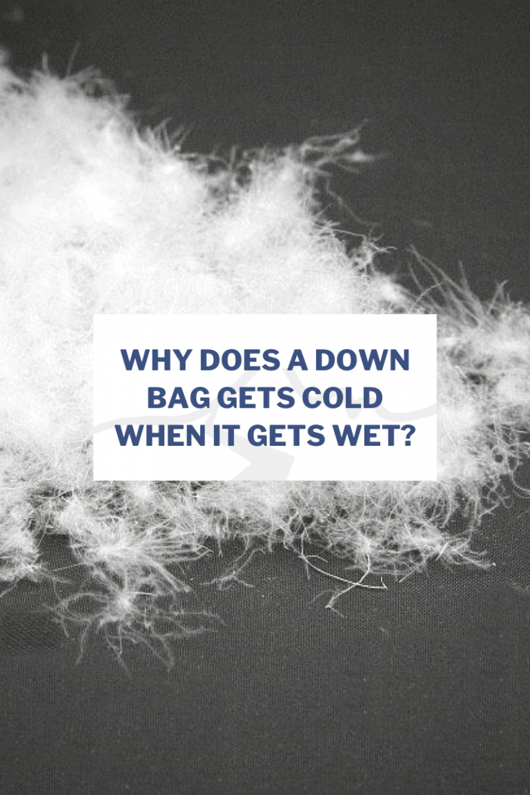 Why does a down bag gets cold when it gets wet?